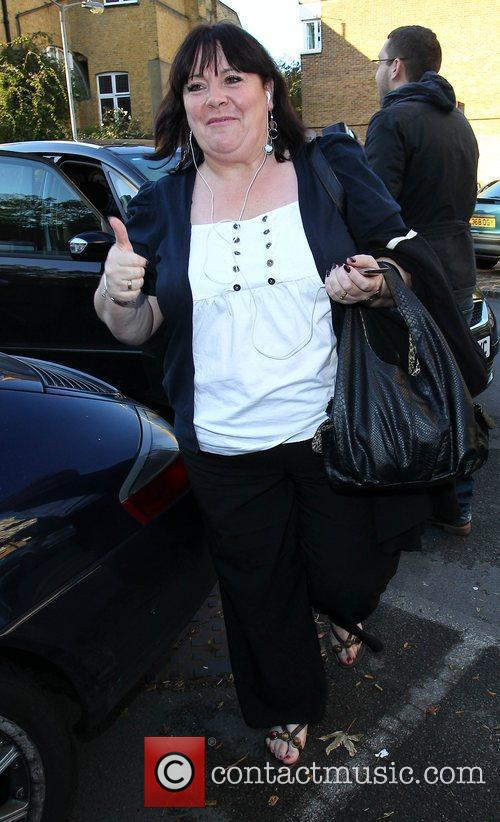 Mary Byrne 'X Factor Finalists' arriving at a...