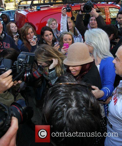 Rebecca Ferguson 'X Factor Finalists' arriving at a...