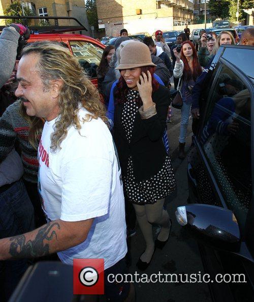 Wagner Carrilho, Rebecca Ferguson 'X Factor Finalists' arriving...