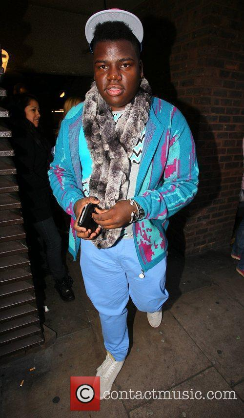 X Factor finalist Paije Richardson on his way...