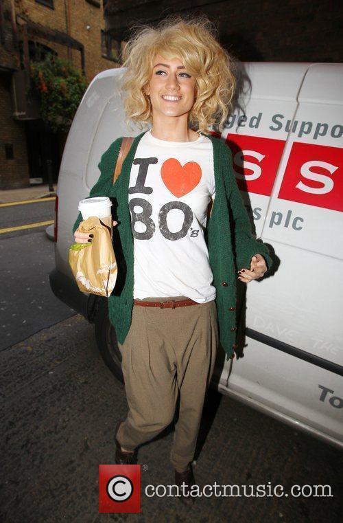 X Factor finalist Katie Waissel on his way...