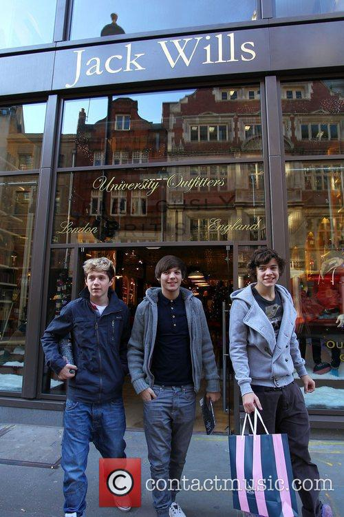 X Factor finalists Louis Tomlinson, Niall Horan and...