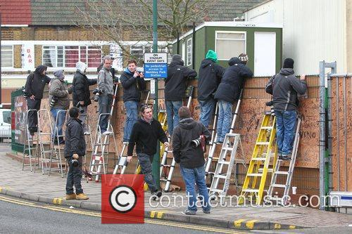 X Factor rejects arrive at the studio for...