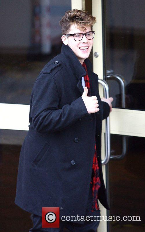 Aiden Grimshaw X Factor rejects arrive at the...