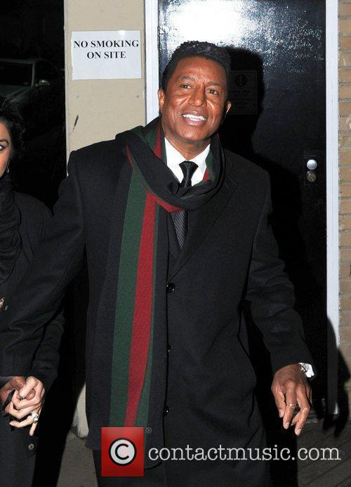 Jermaine Jackson leaving the studio after the 'X...
