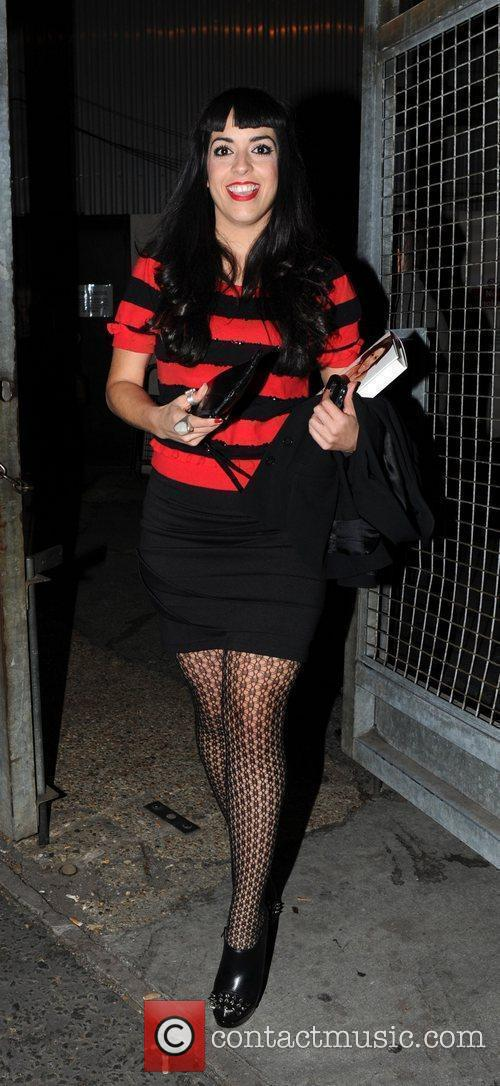 Ruth Lorenzo leaving the studio after the 'X...