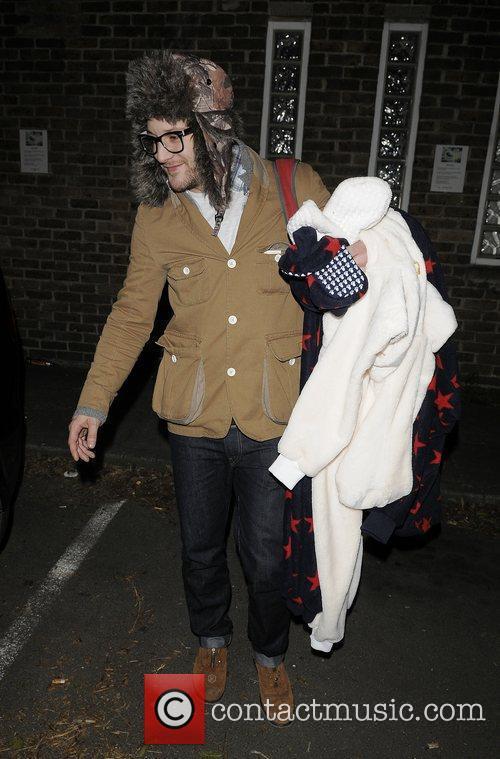 X Factor finalist ~Matt Cardel leaving recording studio...