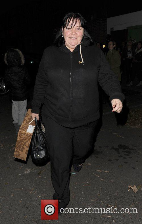 X Factor finalist Mary Bryne leaving a recording...