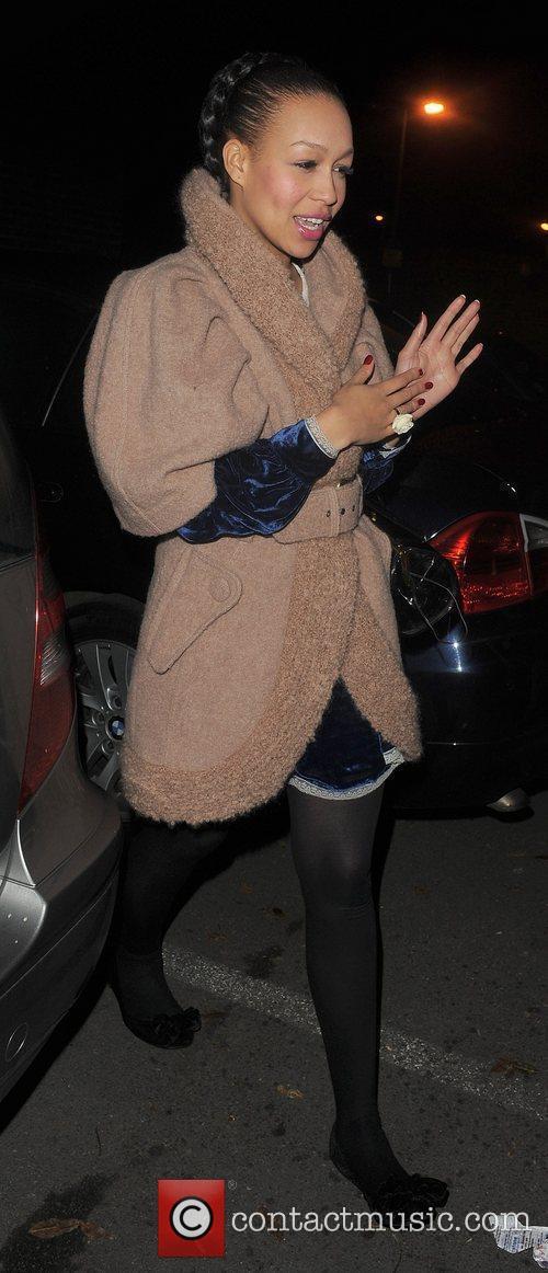 X Factor finalist Rebecca Ferguson leaving a studio...