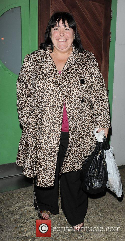 X Factor contestant Mary Bryne leaving a studio....
