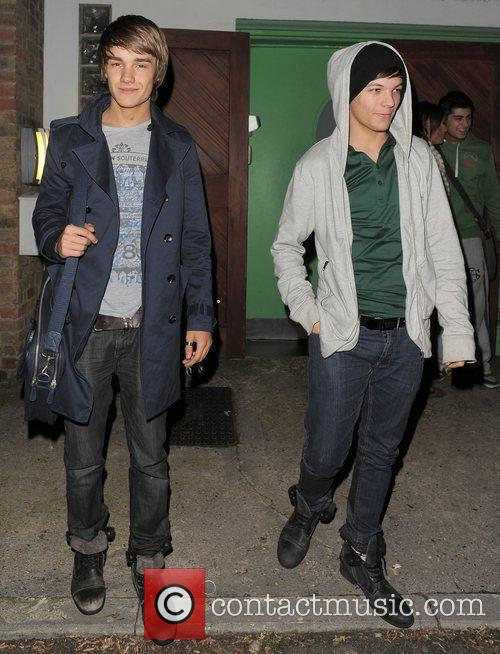 X Factor contestants Liam Payne and Louis Tomlinson...