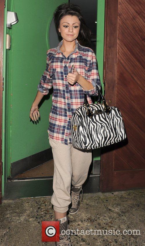 X Factor contestant Cher Lloyd leaving a studio....