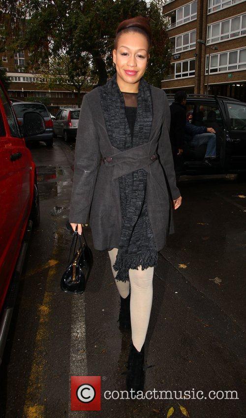 'X Factor finalist Rebecca Ferguson arrives at a...