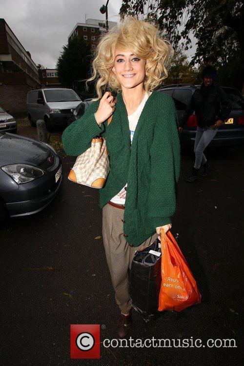 'X Factor finalist Katie Waissel  arrives at...