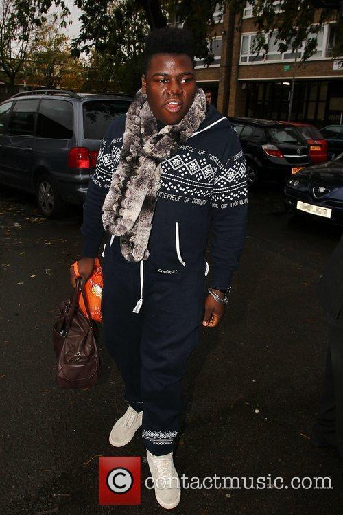 'X Factor finalist Paije Richardson arrives at a...
