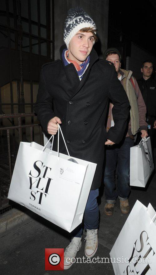 X Factor finalist Aiden Grimshaw leaving Topshop, having...