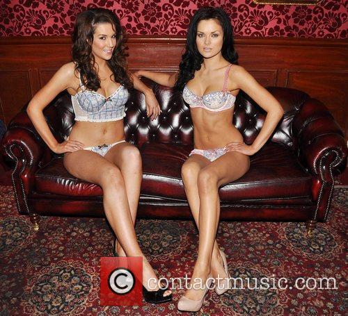 Liz Ryan & Dana Arikane Models pose for...