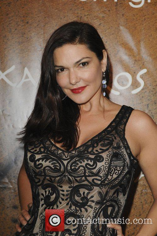Laura Harring at the opening of Xandros Greek...