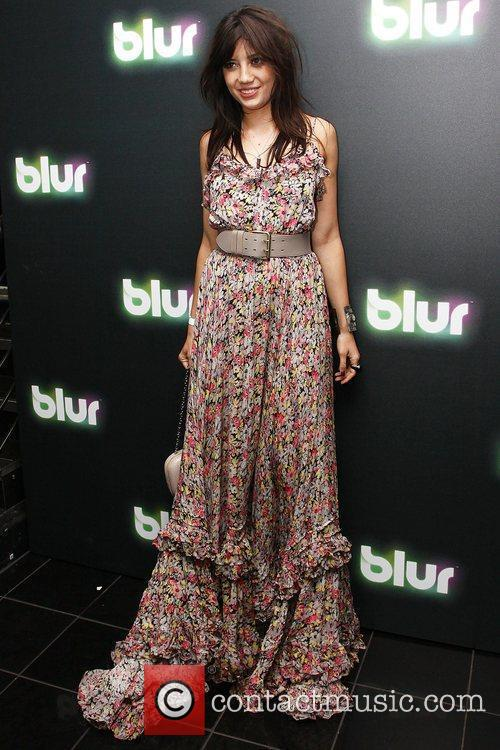 Daisy Lowe at Blur launch party held at...