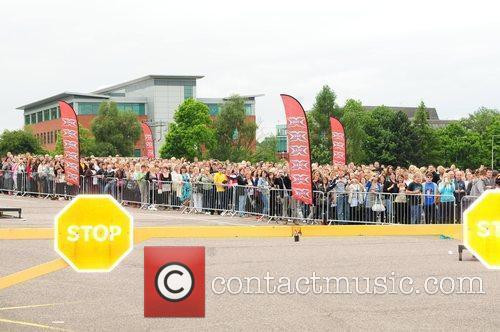 Contestant at the X Factor auditions held at...