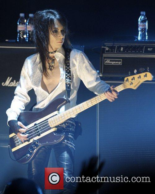Of 'X Japan' performing on stage at Massey...