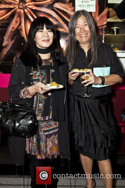 Anna Sui and Yeohlee Yeohlee opens the garment...
