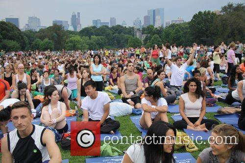 The 'yoga at the great lawn' event in...
