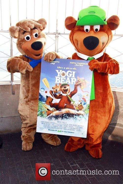 The stars of 'Yogi Bear', a live-action/computer animated...