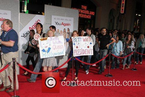 Fans Los Angeles Premiere of You Again held...