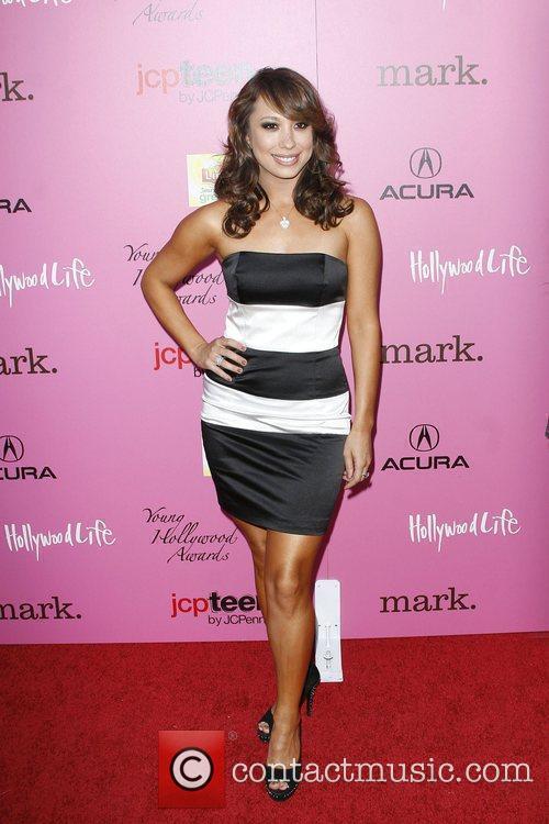 Cheryl Burke Wearing a dress by Elene Cassis,...