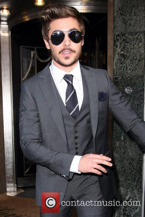 Zac Efron outside Claridge's hotel in Mayfair. London,...