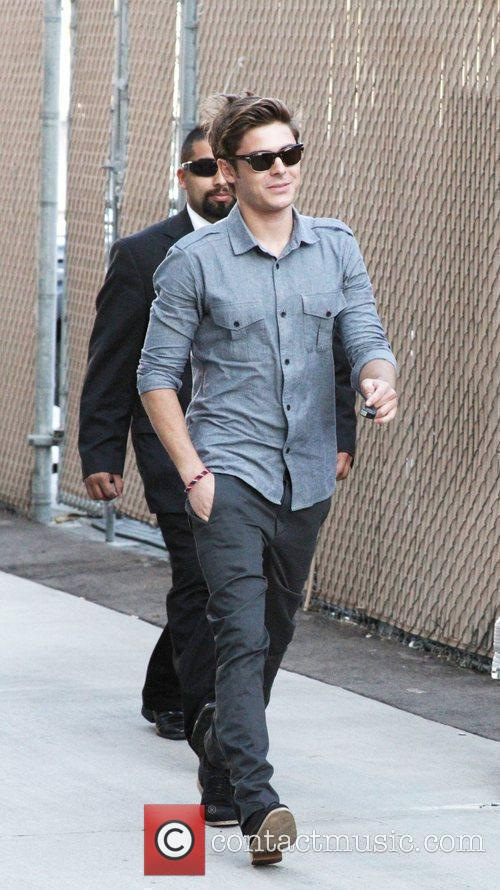 Is seen outside the 'Jimmy Kimmel Live' studios.