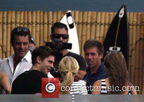 Zac Efron  visits North Bondi Italian after...