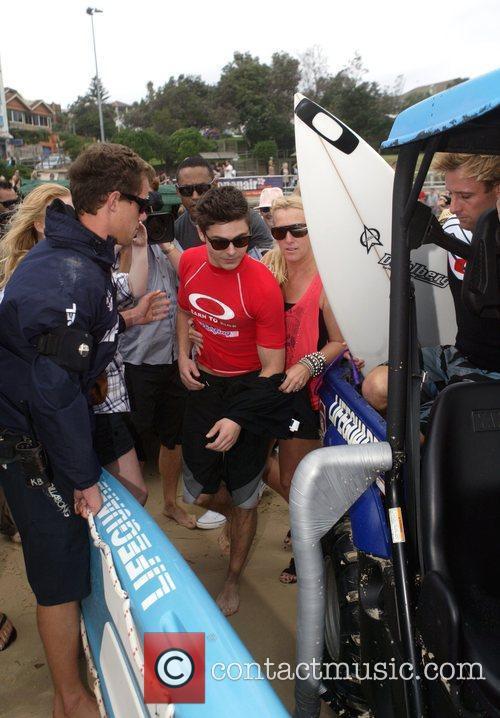 Zac Efron  visits Bondi Beach to go...