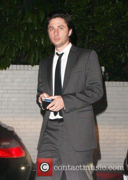 Zach Braff is seen outside Chateau Marmont after...