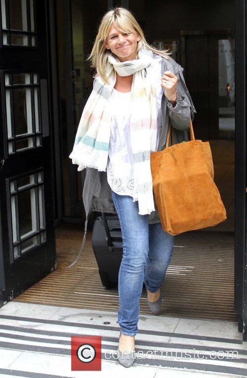 Zoe Ball is seen leaving Radio 2 studios....