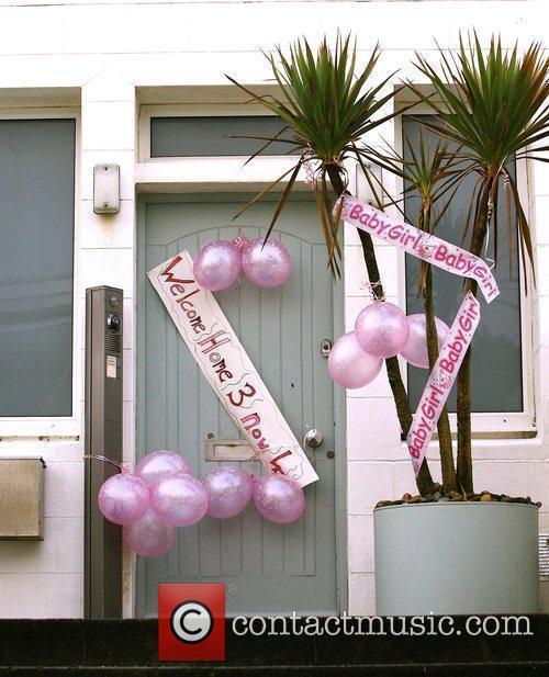 Welcome home messages on the door of Zoe...