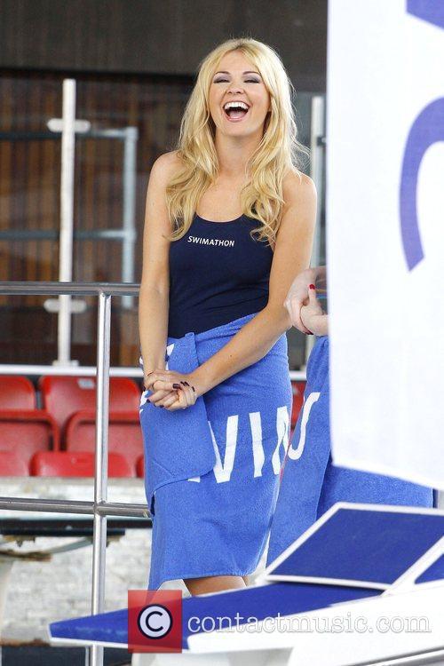 Zoe Salmon attends the launch of Swimathon 2010...