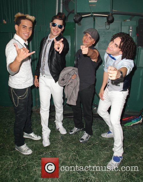 Zone D' Tambora  backstage before performing at...