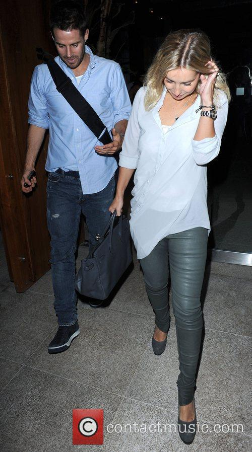 Jamie Redknapp and Louise Redknapp at Zuma Restaurant
