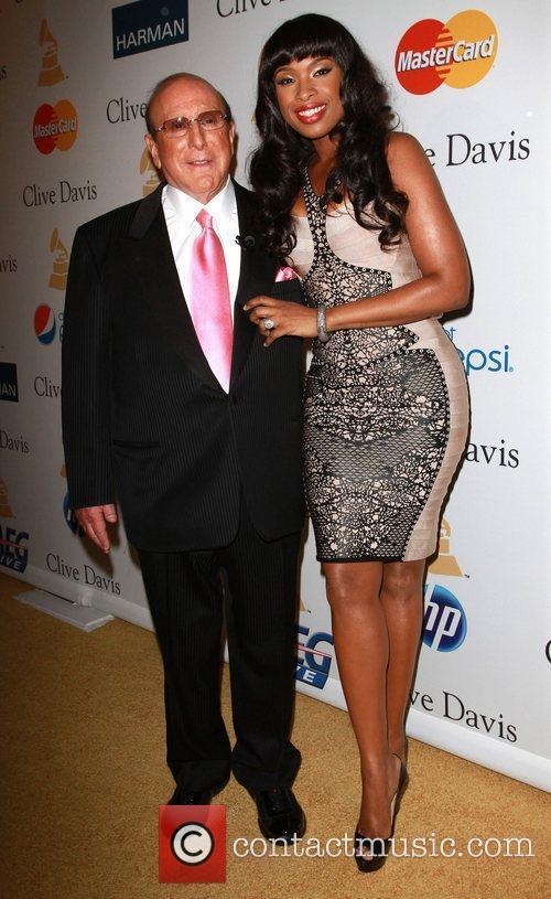 Clive Davis and Jennifer Hudson 2011 Pre-Grammy Gala...