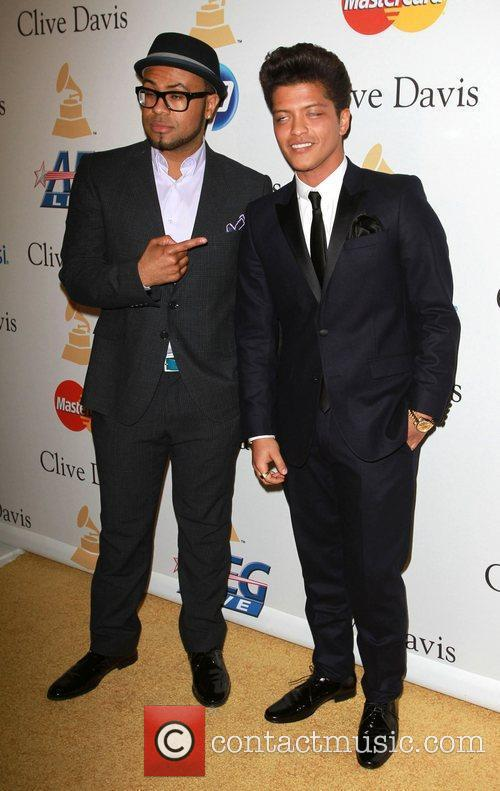 Bruno Mars and guest 2011 Pre-Grammy Gala and...