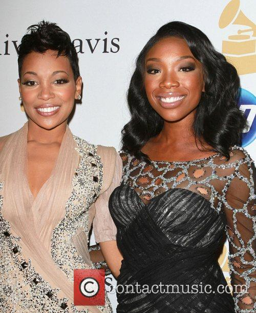 Monica and Brandy 2011 Pre-Grammy Gala and Salute...