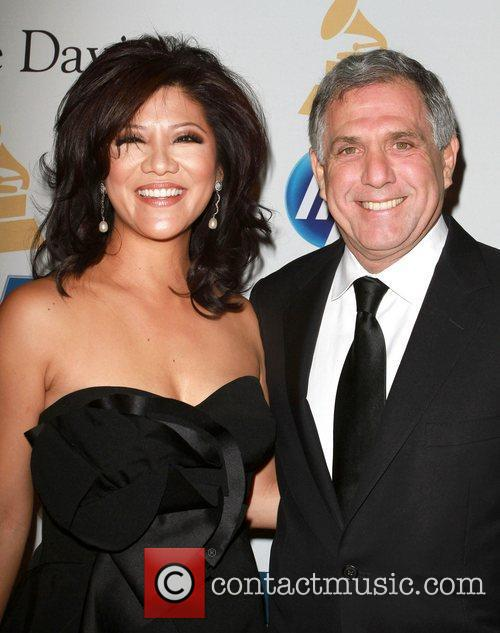 Les Moonves, David Geffen and Julie Chen 1