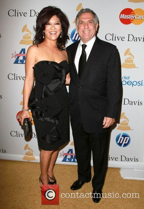 Les Moonves, David Geffen and Julie Chen 2