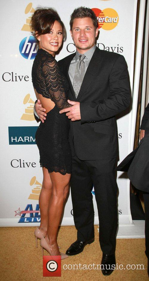 Nick Lachey and Vanessa Minnilo 2011 Pre-Grammy Gala...