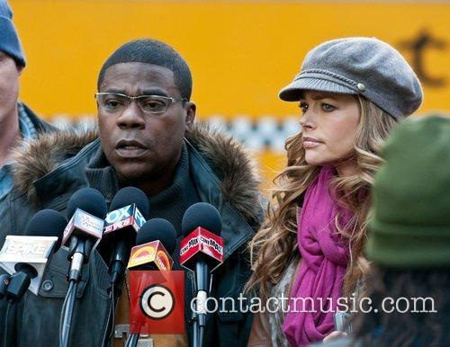 Tracy Morgan and Dense Richards on location at...