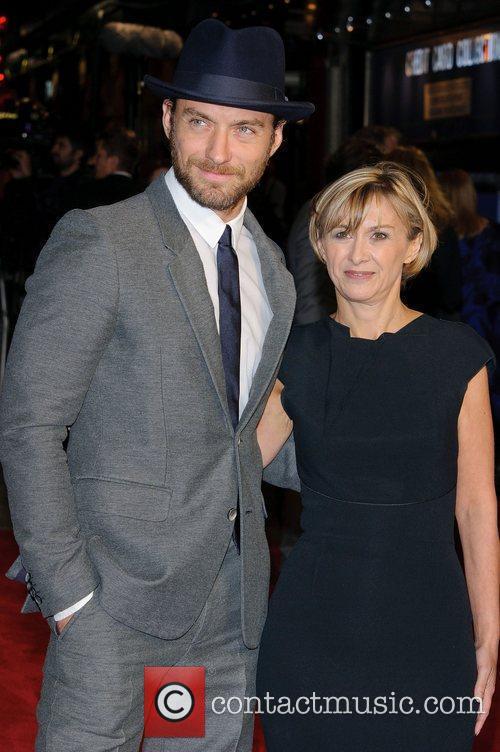 Jude Law and Sandra Hebron Screening of 360...