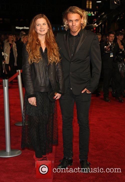 Bonnie Wright, Jamie Campbell Bower and Odeon Leicester Square 1