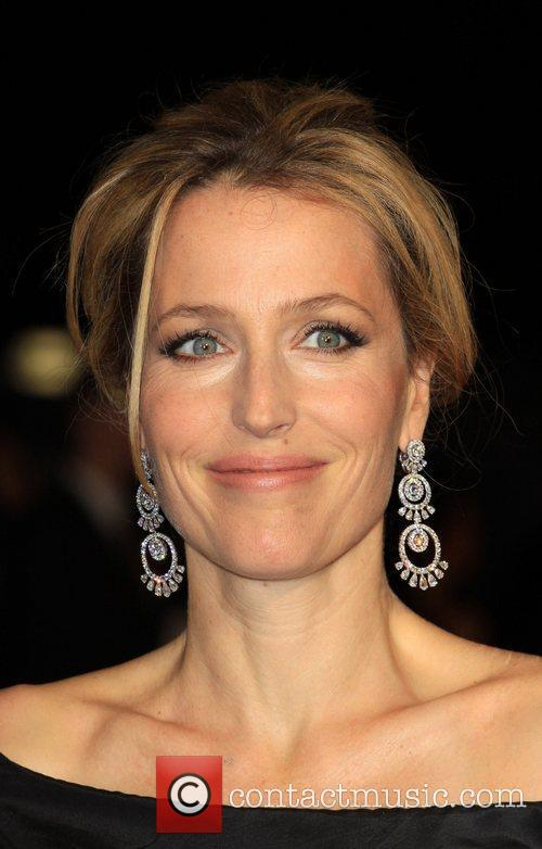 Gillian Anderson and Odeon Leicester Square 8